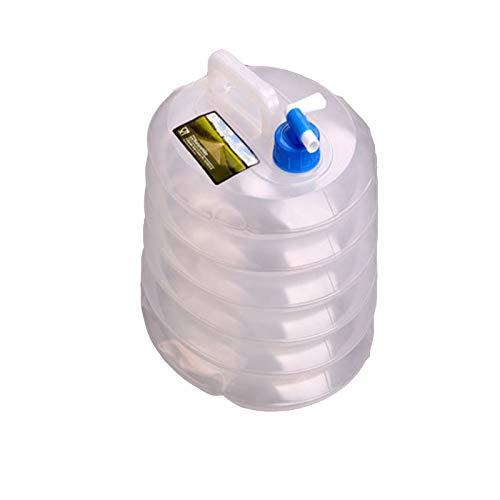 adad Campinggeschirr-Wasserkanister Wasserspeichertank | Faltteleskop | 5L10L15L | Mit Wasserhahn | Camping Im Freien (Color : Clear, Size : 10L)