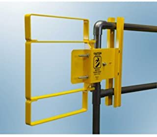 FabEnCo XL Series Carbon Steel Yellow Clamp-On Self-Closing Safety Gate, Fits Opening 17-18.5