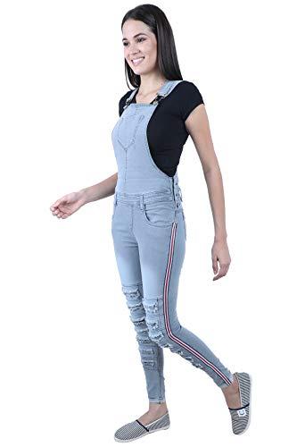 Broadstar Women Skinny Fit Denim Grey Dungaree