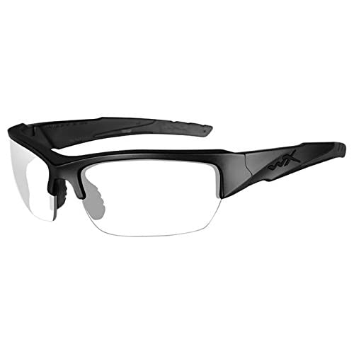 b8ad350b40 Amazon.com  Wiley X WX Valor Glasses Smoke Grey Clear Lens Matte Black  Frame  Sports   Outdoors