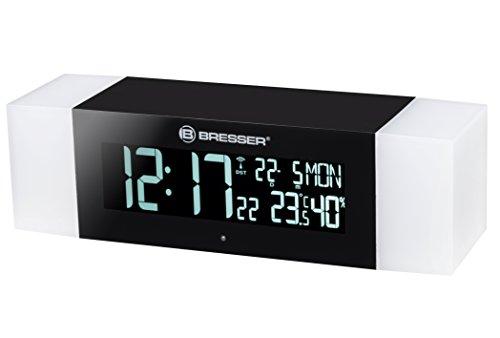 Bresser DCF Funk FM Radiowecker Lichtwecker Wake Up Light mit Bluetooth Lautsprecher und Innentemperaturanzeige
