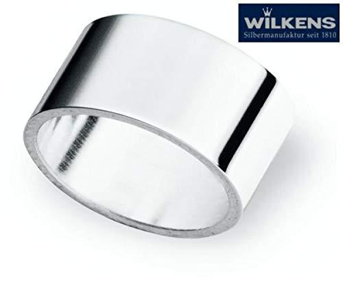 Wilkens 6 Serviettenringe 2,5 cm rund Neutral versilbert