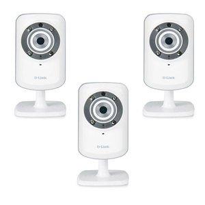 D-Link Telecamera IPmydlink Wireless N visione diurna e notturna - Diodi infrarossi integrati - Rilevamento di movimento - Sorveglianza interna giorno e notte (DCS-932L)