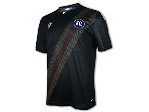 Macron Karlsruher SC Ausweichtrikot 20 21 schwarz KSC Third Shirt Fan Jersey, Größe:M