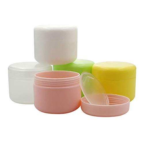 SUPVOX 5 UNIDS 100g acrílico frascos Redondos cosméticos Botella máscara dispensador portátil Caja de Crema vacía (Color al Azar)