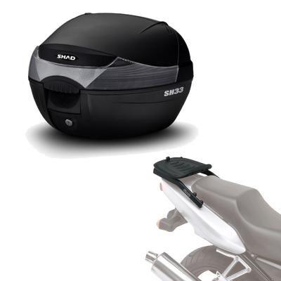 Sh33he5 - Kit fijacion y Maleta baul Trasero sh33 Compatible con KTM Duke 125/390 17 KTM Duke 390...