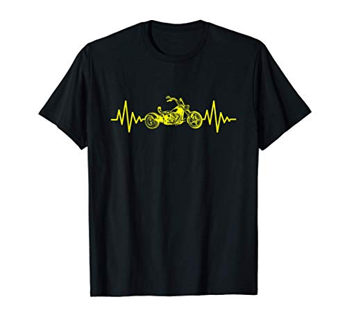 Trike EKG Herzschlag Puls Motiv Dreirad Trikes Triker Biker T-Shirt
