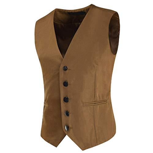 Homebaby Gilet Uomo Elegante Blazer Giacca Panciotto Smanicato Formale Casual Lavoro Classic Festivo Vestito da Festa Costume Cardigan Cerimonia Completo da Uomo