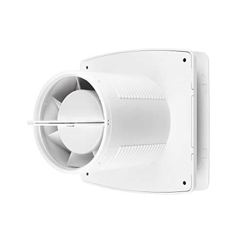 Badlüfter 100 mm Abluftventilator mit Feuchtigkeitssensor Timer und Rückstauklappe 100 m³/h 32 dB IPX4 2