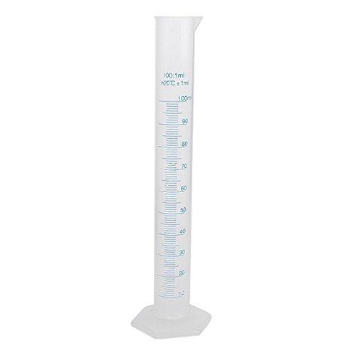 Pixnor - Probeta graduada de plástico transparente de 100 ml