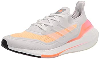 adidas Women s Ultraboost 21 Running Shoes Crystal White/Crystal White/Acid Orange 8