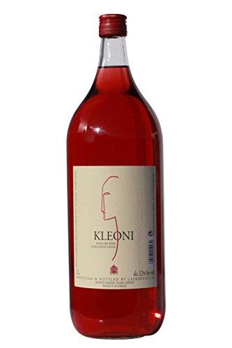 Kleoni Rose Wein trocken Lafkiotis 2 L Flasche - griechischer Rosewein Griechenland Wein