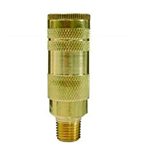 Dixon Valve DC27 Quick-Connect Air Hose Socket, 1/4 Coupler x 1/4 NPT Male Thread, 37 CFM Flow Rating by Dixon Valve & Coupling