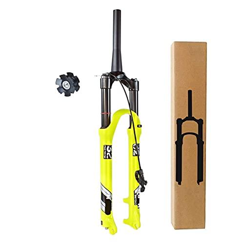 ZPPZYE Horquilla MTB 26 27,5 Pulgadas 29 ER Aleación Aluminio 1-1/8' Bicicleta Horquilla de Suspensión Horquilla Control Remoto Viaje 140mm (Color : Remote Lock B, Size : 26 Inch)