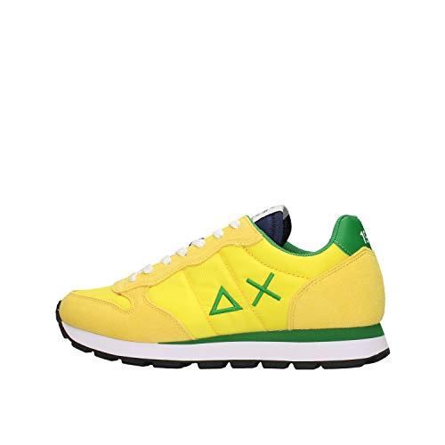 SUN 68 zapatos hombres zapatillas bajas Z30101 2388 TOM SOLID NYLON talla 45 Giallo / verde