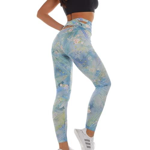 QTJY Leggings con Estampado de Camuflaje para Mujer, Moda Sexy, Nalgas Transpirables, Pantalones Deportivos para Mujer, Mallas Deportivas Deportivas IL