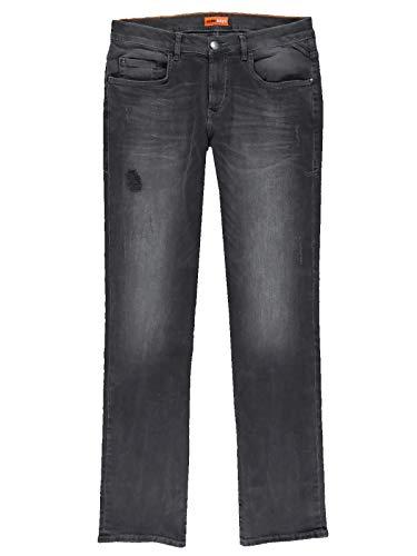 emilio adani Herren Slim Fit Jeans mit leichten Destroy-Elementen, 31308, Grau in Größe 38/32