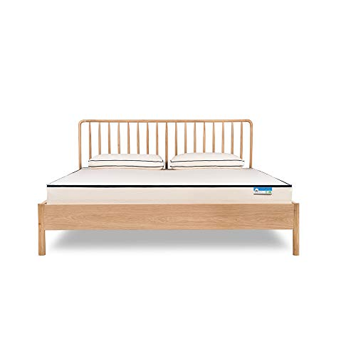 Una Organic Double Mattress with Adjustable Firmness That Each Partner Can Set Individually on Their Side of the Mattress 100% Organic Mattress UK (90 x 200 x 18 cm)