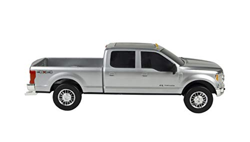 Big Country Toys Ford F250 Super Duty Truck - 1:20 Scale - Goose Neck Hitch - Bumper Hitch - Toy Truck - Silver
