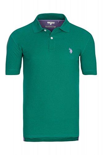 U.S. Polo Assn. S/S Shirt Polo da uomo, verde 197 42607 51887 148, taglia: M