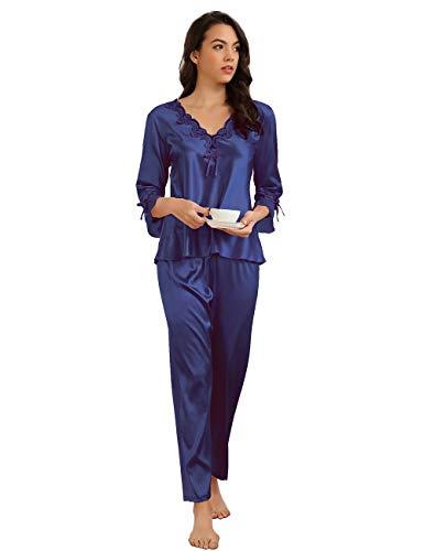 ohyeahlady Mujer Conjunto de Pijama Satén Cómodo...