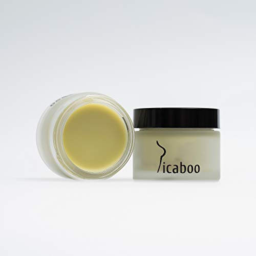 Picaboo Under Breast Rash Treatment Cream, Anti Chafing, Balm, Unisex, Natural Deodorant, Anti Inflammatory, Anti Fungal, Skin Rash Relief, Excessive Sweating, Exercise, 1 oz, Made in the USA