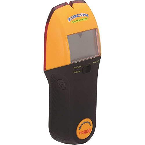 Zircon HD800 9 Volt 4 Modus Multiscanner zum Finden von Studs, Live-Draht oder Metall mit hintergrundbeleuchtetem Display (Batterie nicht enthalten, nur Werkzeug)