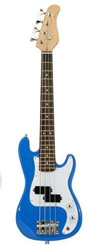 """ELECTRIC BASS GUITAR - BLUE - Small Scale 36"""" Inch Childrens Mini Kids NEW"""