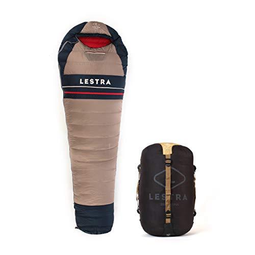 Lestra Heritage Schlafsack, Unisex Erwachsene, Gold/blau, Größe 220