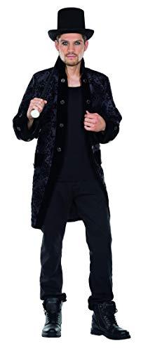 Rubie's Gothic Mantel schwarz Größe 58 Herren Kostüm Halloween Gruftie
