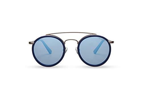 KYPERS Bratt - Gafas de sol (acetato y acero inoxidable), Azul (Metal (Gun Metal)), Talla única