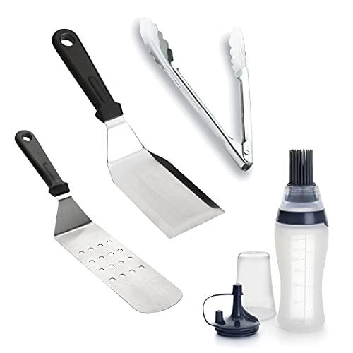 Lacor 98941 Set, Juego Utensilios de Barbacoa de Cocina Profesional, Acero Inoxidable, INOX