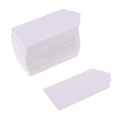 OKwife 100pcs Kraftpapier Geschenkkarten hängen Tags Schmucketiketten Tag Craft Decor 4x9cm