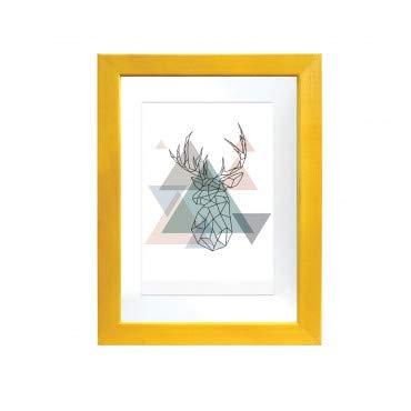 Artepoint Holz Bilderrahmen Natur mit weißem Passepartout Querformat und Hochformat zum Aufhängen und Aufstellen Rahmen KIEFERNHOLZ Farbe: Gelb - Format 20x30