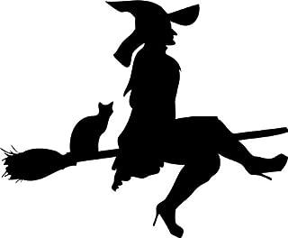 Flying Witch Stencil 01-10 inch (at Longest Point) - 10 mil Medium-Duty