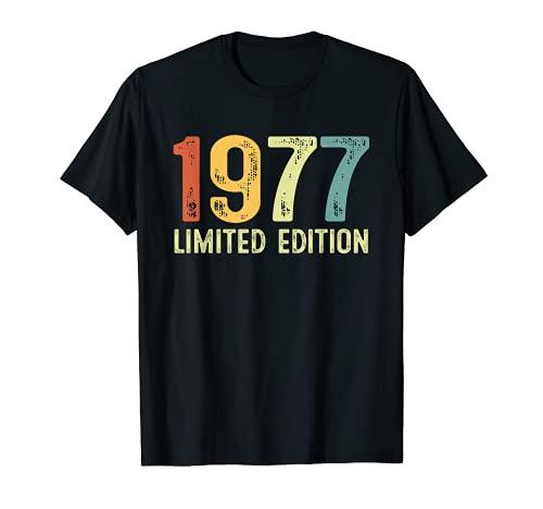 Vintage 1977 44 Anni Compleanno Uomo Donna Regalo Divertente Maglietta