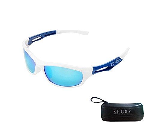 KICCOLY Sport Occhiali da Sole Polarizzati per Gli Uomini Ideale per lo Sci Golf Corsa Ciclismo TR90 Super Leggero per Gli Uomini e le Donne