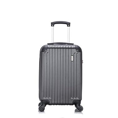 TravelCross Philadelphia Carry On Lightweight Hardshell Spinner Luggage - Dark Gray