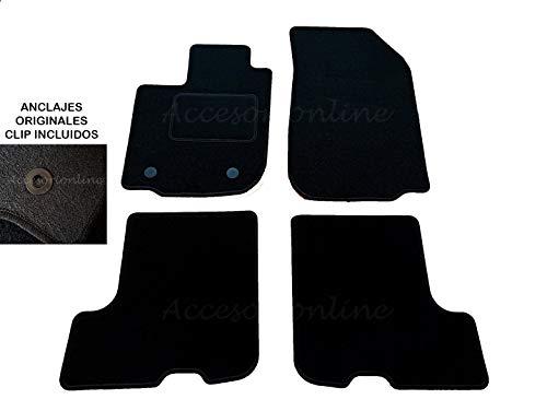 Accesorionline Alfombrillas para Dacia SANDERO/Logan/Logan MCV (Desde 2012) 3/5puertas A Medida con talonera