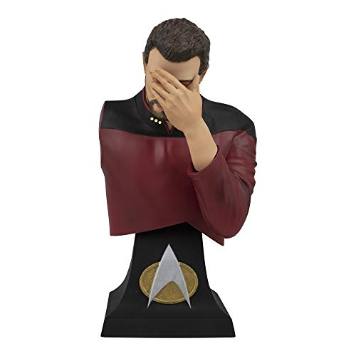 Star Trek TNG Commander Riker Facepalm 8 in Mini Bust Paperweight by Icon Heroes