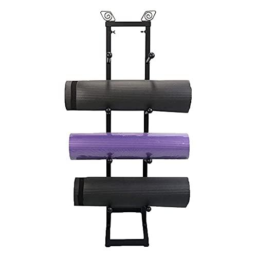 Almacenamiento de Rodillo Espuma/Esterilla Yoga Piso del Soporte del Rodillo De Espuma Estrecho, Pequeño Organizador De Estante De Almacenamiento De Esterilla De Yoga con 2 Ganchos, para Colgar Corre
