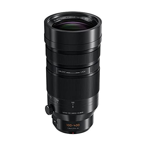 Panasonic LEICA 100-400mm F4.0-6.3 | Objectif Téléphoto H-RS100400E (Zoom Ultra Puissant, Stabilisé, Tropicalisé, equiv. 35mm : 200-800mm) Noir – Compatible monture Micro 4/3 Panasonic & Olympus
