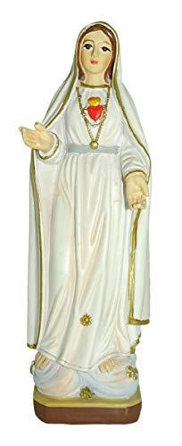 Ferrari & Arrighetti Estatua Virgen de Fátima con Caja de Regalo y marcapáginas (en ES/IT/FR/IN)