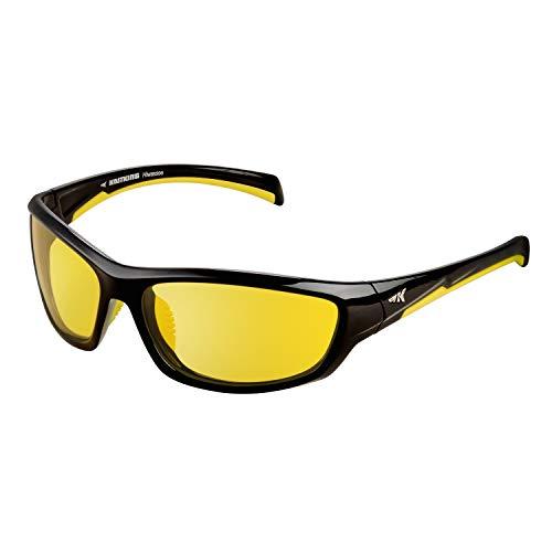 KastKing Polarized Night Vision Driving Glasses for Men Women,Full Wrap Design, Yellow Lens