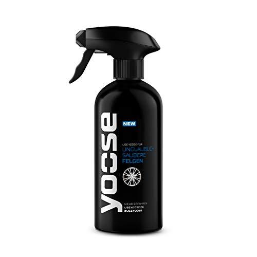 yoose Premium Felgenreiniger zur Felgenpflege | 500ml | Säurefrei und pH neutral | Felgen-Gel-Reinigung für Alufelgen + Stahlfelgen | Autopflege für Sommer-Reifen + Winter-Reifen