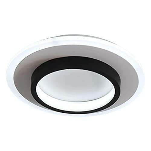 TISHITA Luz de Techo LED, 20W Luz de Techo de 9.5 Pulgadas Lámpara de Accesorio LED Lámpara de Techo Moderna Cerca de Luces de Techo para Dormitorio Cocina - Ronda Blanca