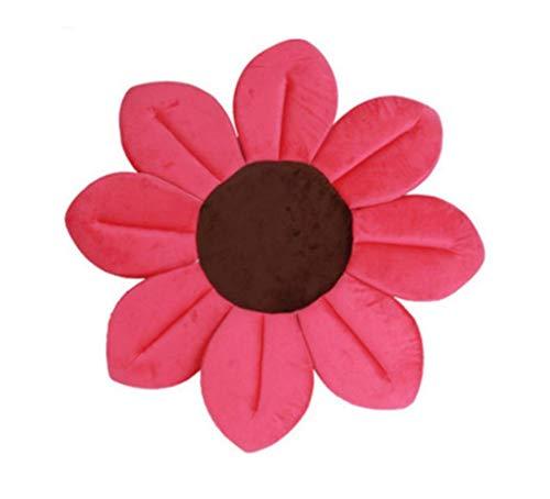 Badbloem voor baby's | pasgeboren baby's | gewatteerde badmat | in verschillende kleuren | roze