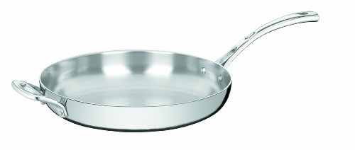 Cuisinart French Classic Tri-Ply Stainless 12-Inch French Skillet with Helper Handle