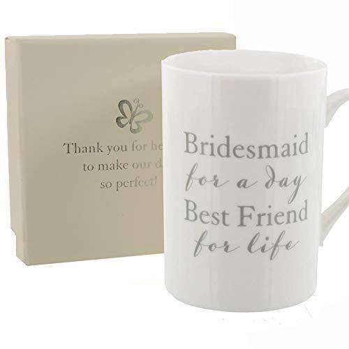 Amore Bridesmaid Thank You Mug With Sentiment Presentation Box