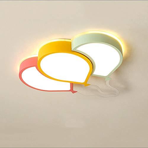HDHUA Deckenbeleuchtung LED-Karikatur-Nette Luftballon-Decken-Lampe Rosa-Grün-Gelb Weiß warmes Licht Eisen Acryl Kronleuchter Kinderzimmer Junge Mädchen Dekorieren Schlafzimmer Einfache